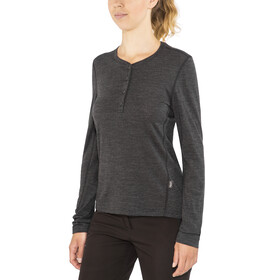 Lundhags Merino Light LS Henley Shirt Women Grey Melange